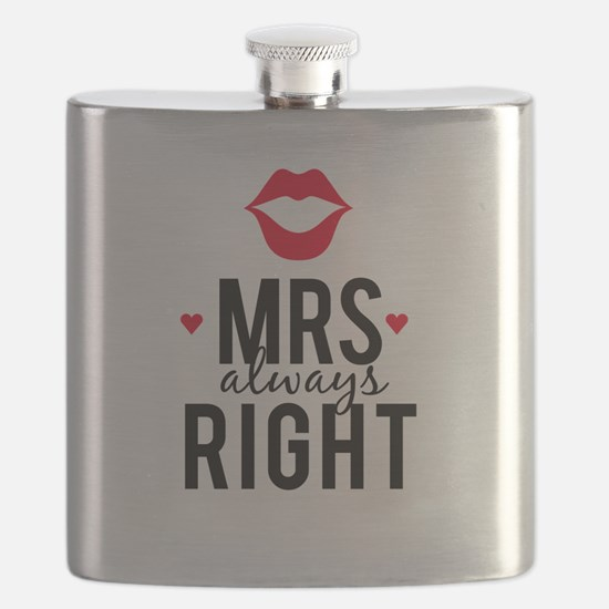Mrs always right red lips Flask