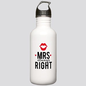 Mrs always right red lips Water Bottle