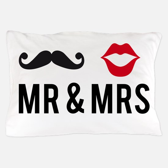 Mr and Mrs Pillow Case