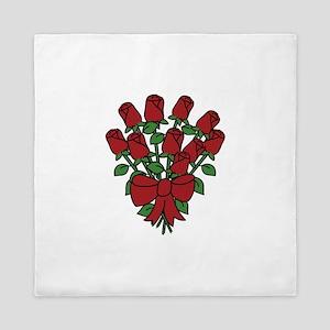 Dozen Roses Queen Duvet