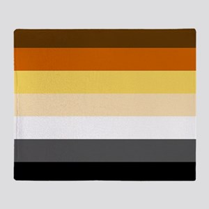 Classic Bear Pride Flag Throw Blanket
