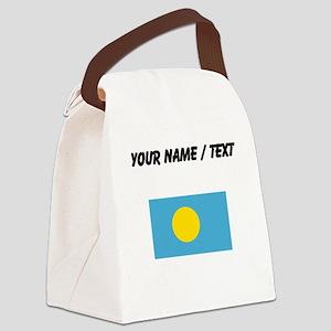 Custom Palau Flag Canvas Lunch Bag