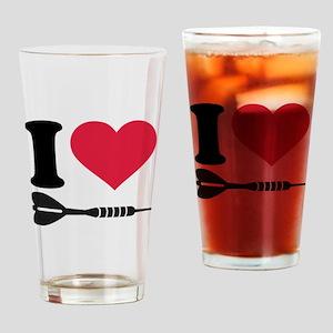 I love Darts Drinking Glass