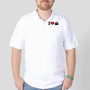 I love Curling stone Golf Shirt