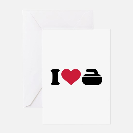 I love Curling stone Greeting Card
