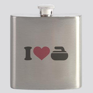 I love Curling stone Flask