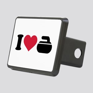 I love Curling stone Rectangular Hitch Cover