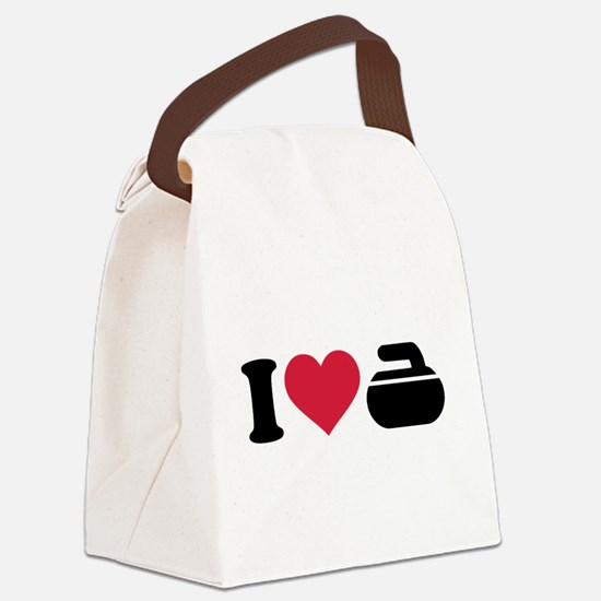 I love Curling stone Canvas Lunch Bag
