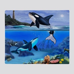 THE ORCA FAMILY Throw Blanket