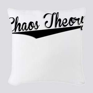 Chaos Theory, Retro, Woven Throw Pillow