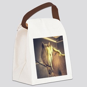 Cream Draft Horse, Jack Canvas Lunch Bag