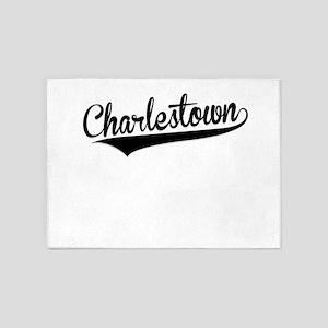 Charlestown, Retro, 5'x7'Area Rug