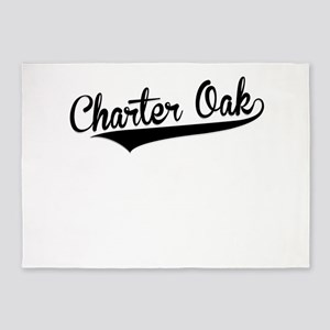 Charter Oak, Retro, 5'x7'Area Rug