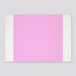 Pink Solid Color 5'x7'Area Rug