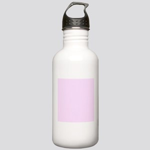 Pale Pink Solid Color Sports Water Bottle