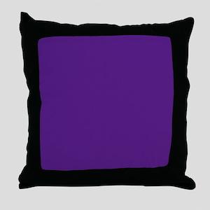 Dark Purple Solid Color Throw Pillow