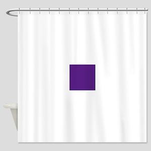 Dark Purple Solid Color Shower Curtain