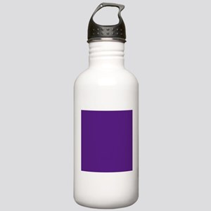 Dark Purple Solid Color Sports Water Bottle