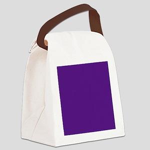 Dark Purple Solid Color Canvas Lunch Bag