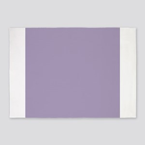 Heather Purple Solid Color 5'x7'Area Rug