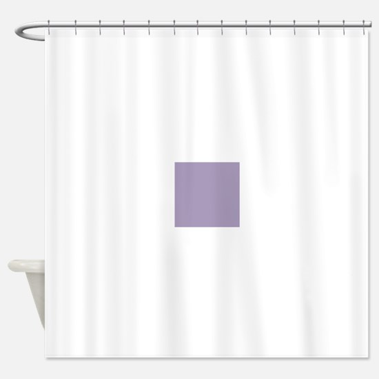 Heather Purple Solid Color Shower Curtain