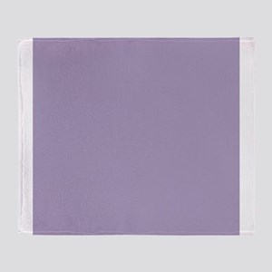 Heather Purple Solid Color Throw Blanket