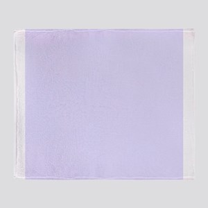 Lilac Purple Solid Color Throw Blanket