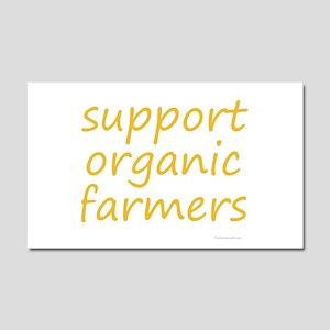 support organic farmers Car Magnet 20 x 12