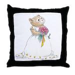 A Hamster Bride Throw Pillow