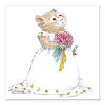 A Hamster Bride Square Car Magnet 3