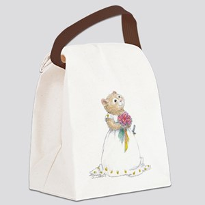 A Hamster Bride Canvas Lunch Bag