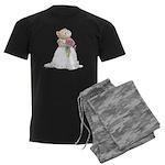 A Hamster Bride Men's Dark Pajamas