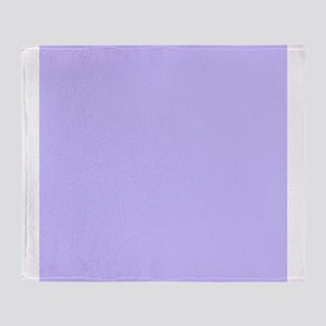 Light Purple Solid Color Throw Blanket
