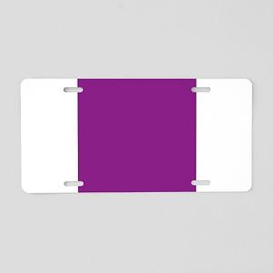 Plum Purple Solid Color Aluminum License Plate