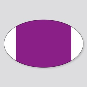Plum Purple Solid Color Sticker