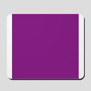 Plum Purple Solid Color Mousepad