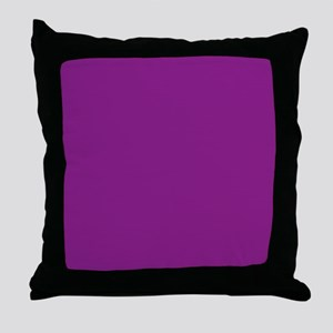Plum Purple Solid Color Throw Pillow