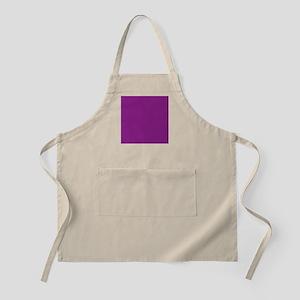 Plum Purple Solid Color Apron