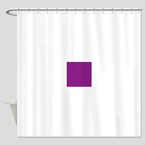 Plum Purple Solid Color Shower Curtain