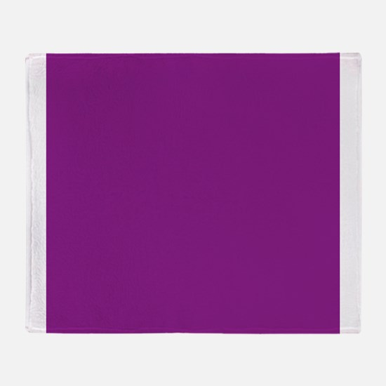 Plum Purple Solid Color Throw Blanket