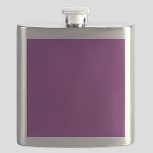 Plum Purple Solid Color Flask