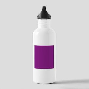 Plum Purple Solid Color Sports Water Bottle
