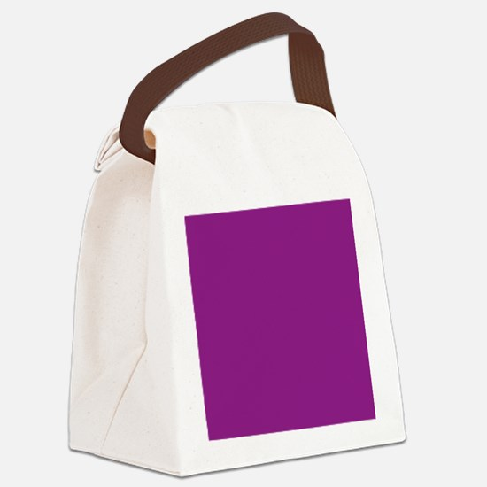 Plum Purple Solid Color Canvas Lunch Bag