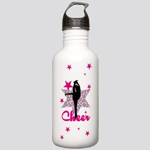 Pink Cheerleader Water Bottle