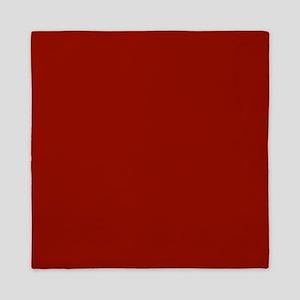 Dark Red Solid Color Queen Duvet