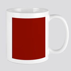 Dark Red Solid Color Mugs