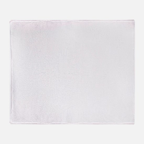 White Solid Color Throw Blanket