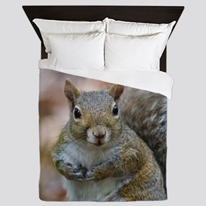Cute Squirrel Queen Duvet