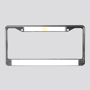 Pastel Yellow Solid Color License Plate Frame