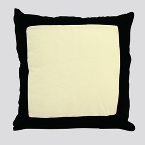 Pastel Yellow Solid Color Throw Pillow